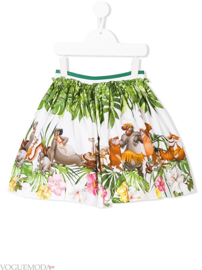 детская юбка с принтом