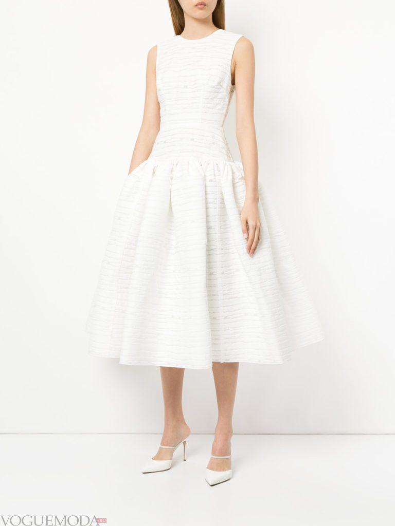 белое пышное платье на выпускной