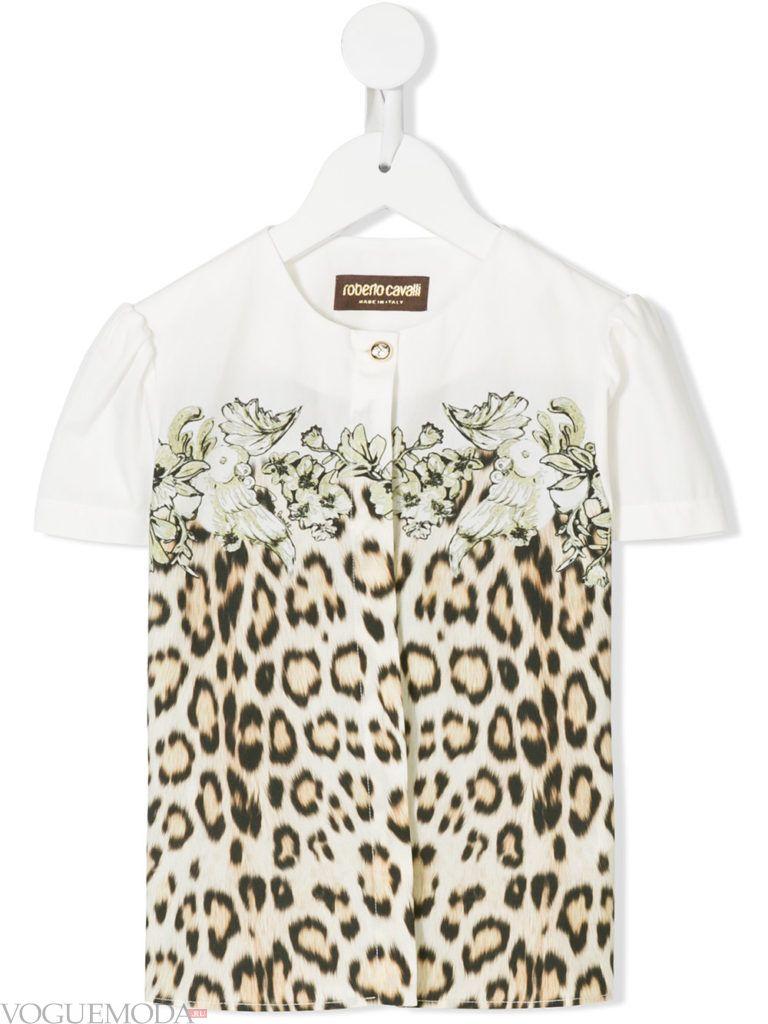детская футболка с леопардовым принтом