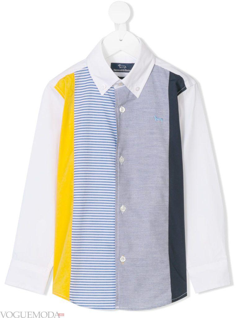 детская рубашка в полоску