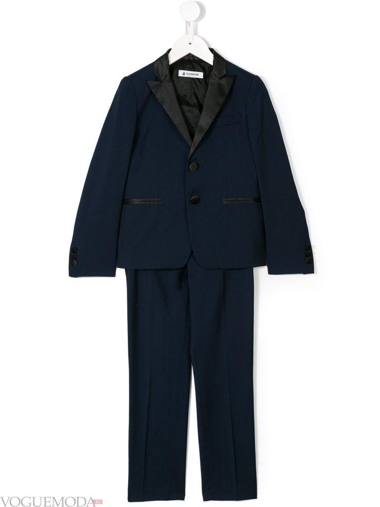 детский синий костюм с окантовкой