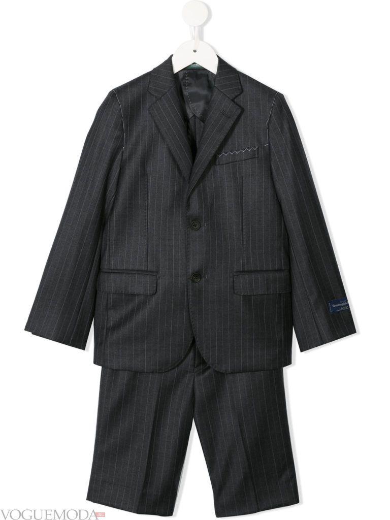 детский серый костюм с шортами