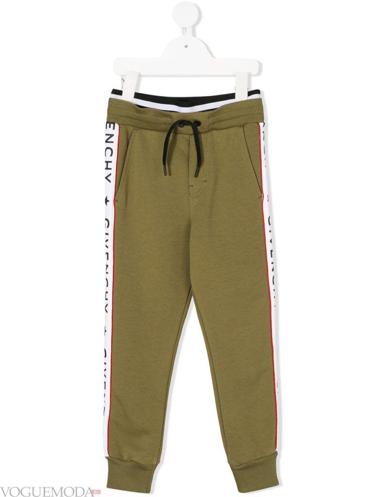 детские оливковые спортивные брюки