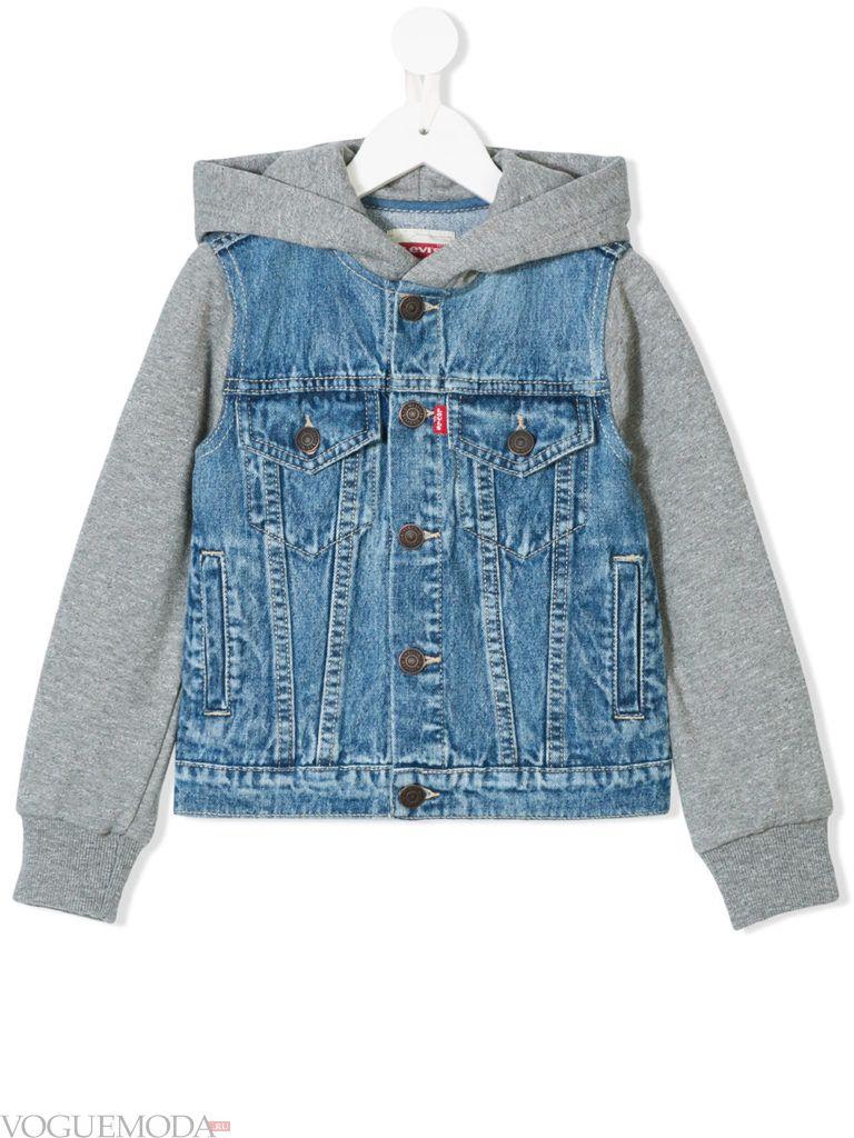 детская комбинированная куртка