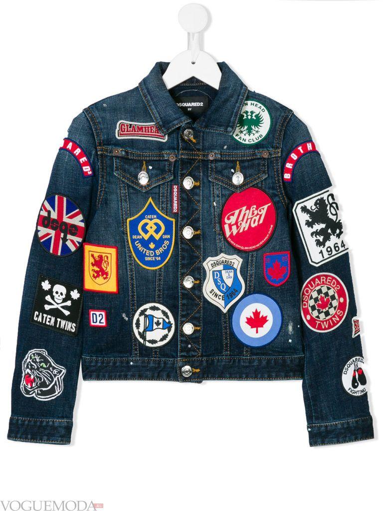 детская джинсовая куртка с декором