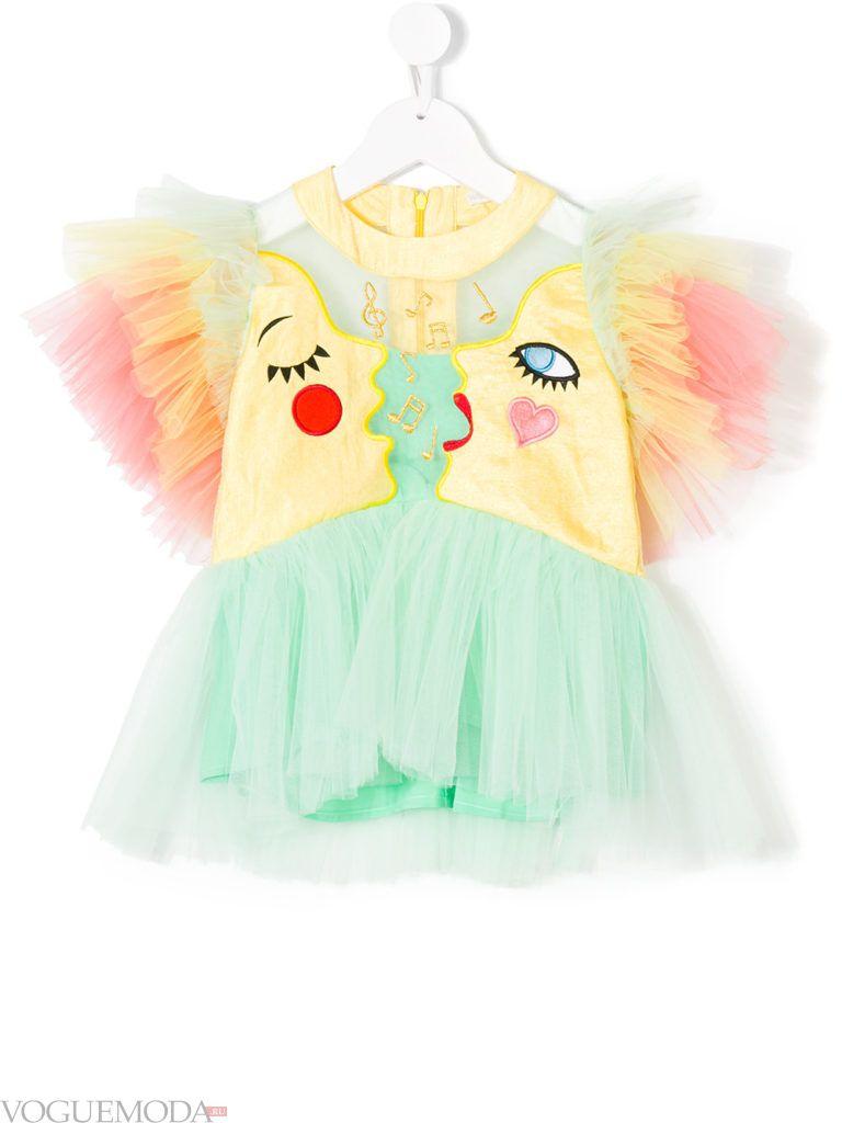детская многослойная блуза колорблок
