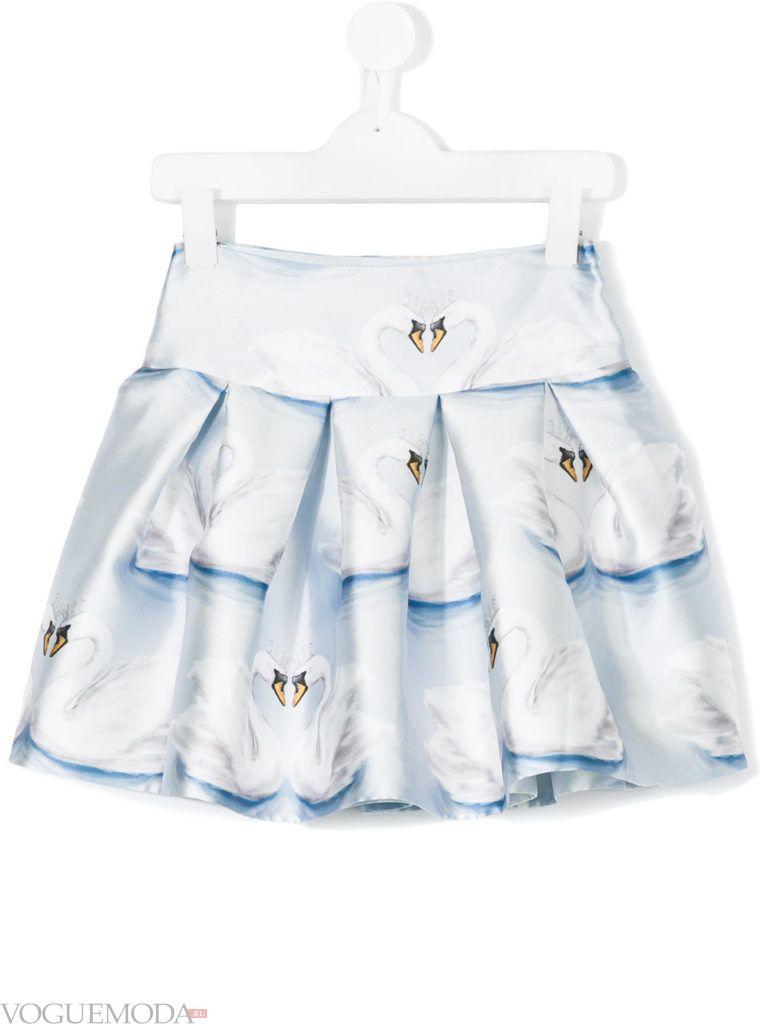 детская многослойная юбка с принтом весна