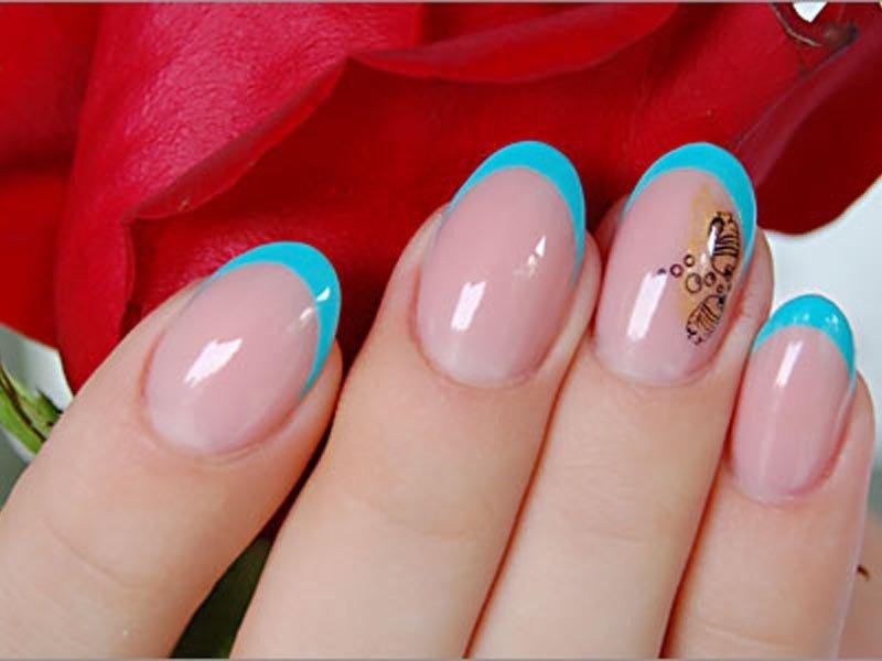 голубой весенний френч с декором