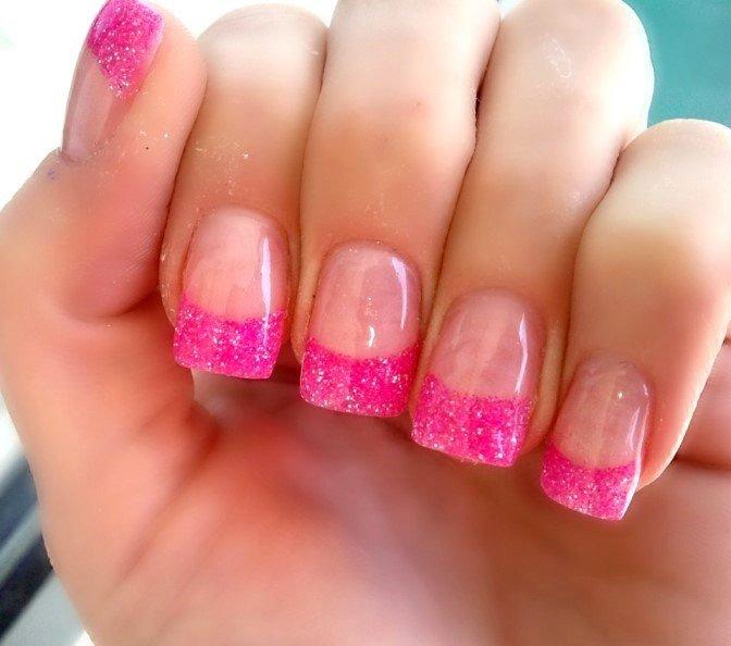 розовый блестящий френч