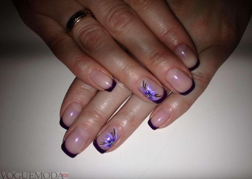 фиолетовый френч с рисунком