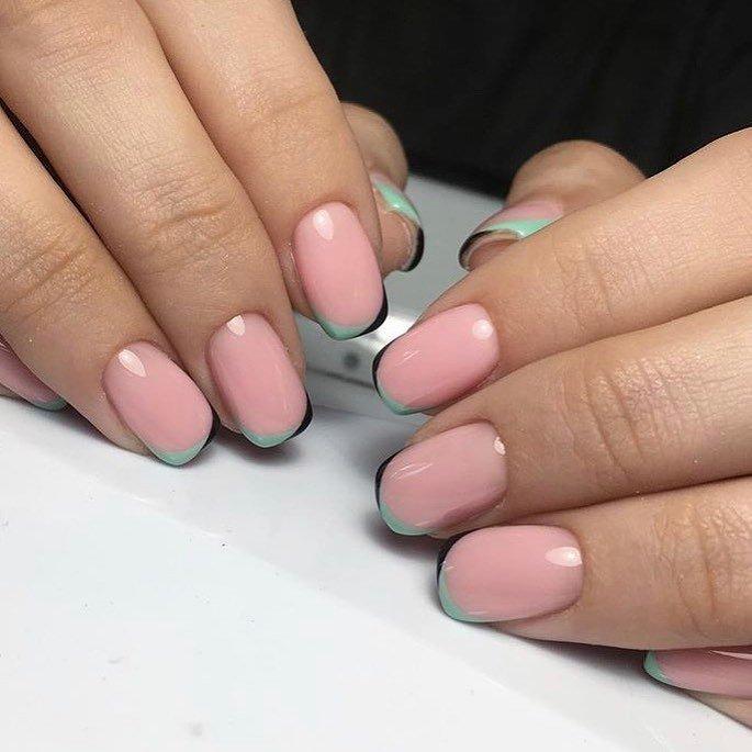 весенний розовый френч с блестками