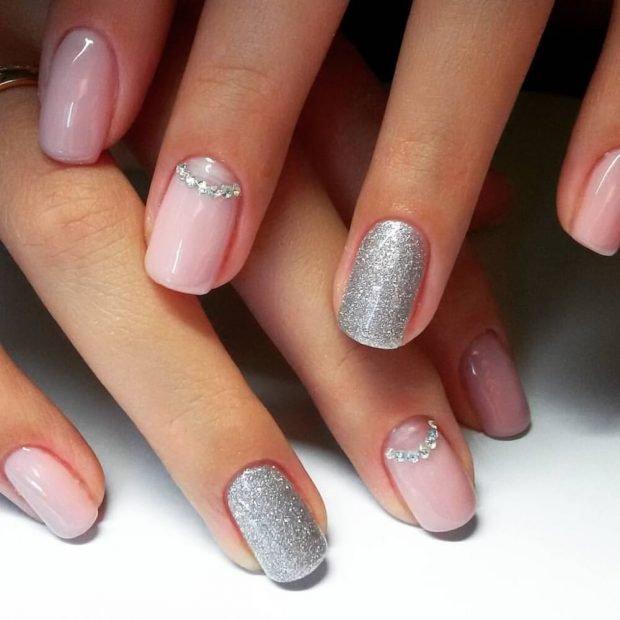 двухцветный с серебром