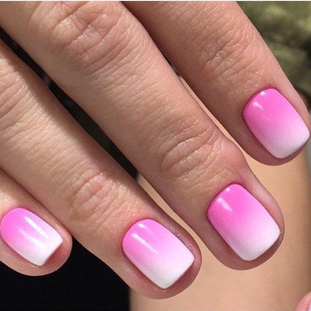 розово-белый градиентный