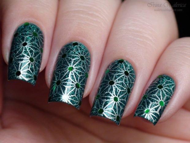зеленый стемпинг