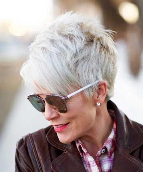 стрижка пикси на короткие волосы для женщин за 40