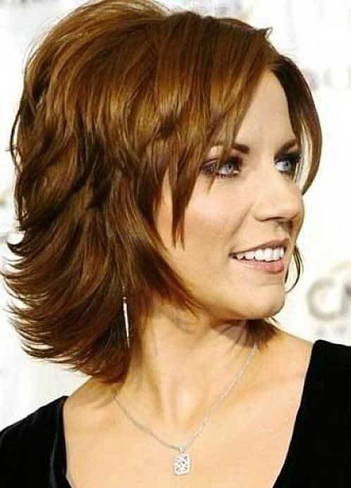стрижка каскад на короткие волосы для женщин за 40