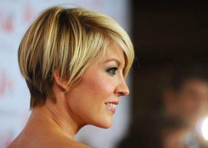 стрижка боб на короткие светлые волосы