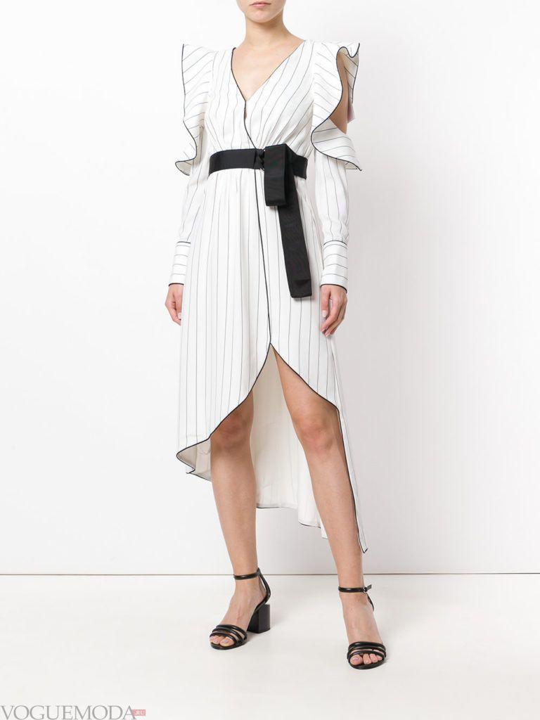 белое платье рубашка с вырезами