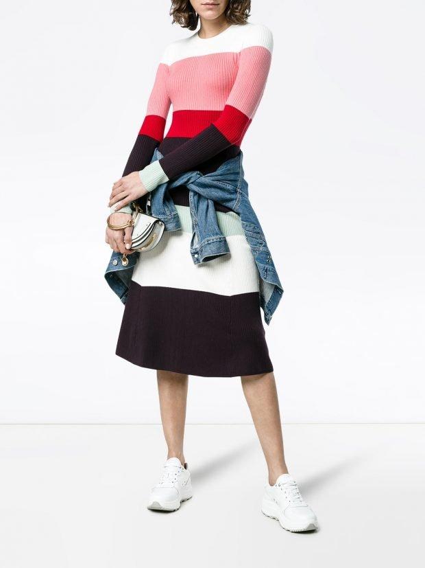 юбка и свитер колорблок кому за 30
