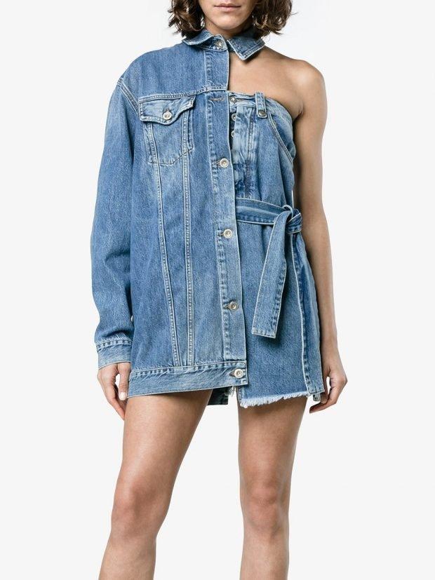 джинсовый асимметричный комплект кому за 30