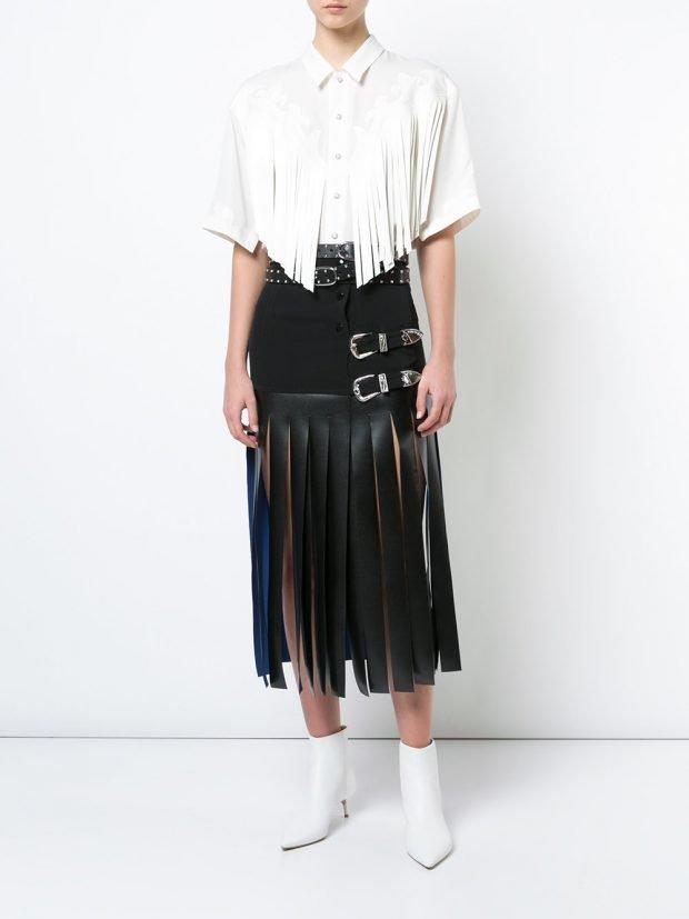 юбка и блуза с бахромой кому за 30