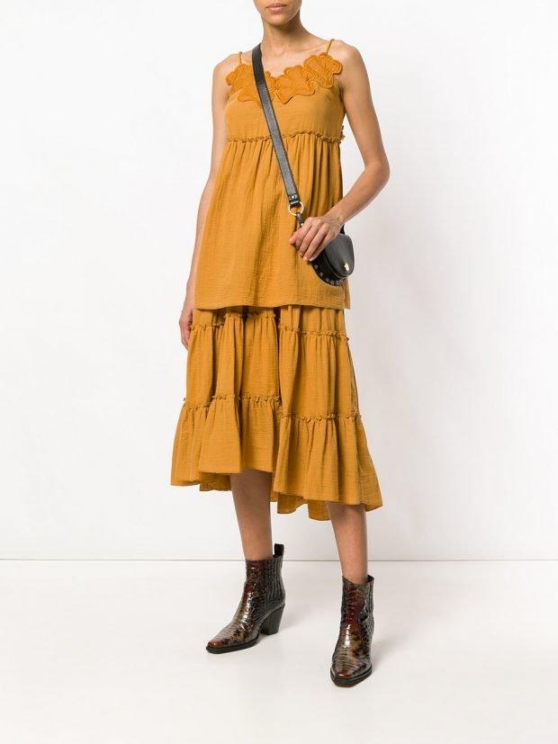 юбочный желтый комплект кому за 30