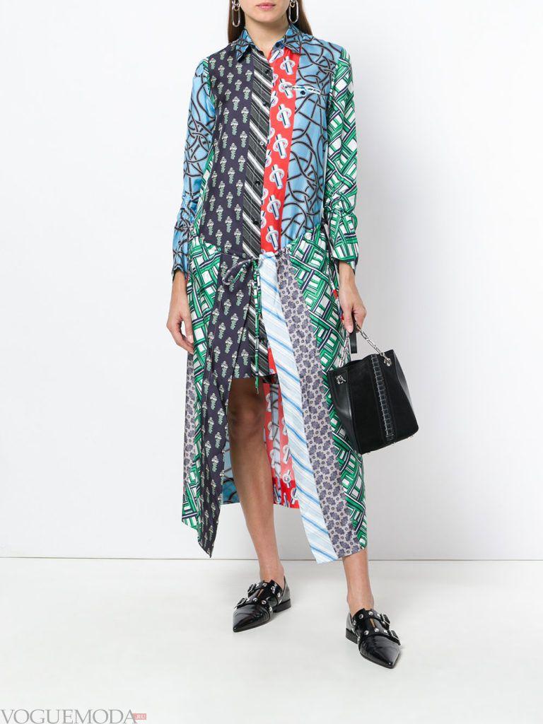 асимметричное платье с принтом кому за 30