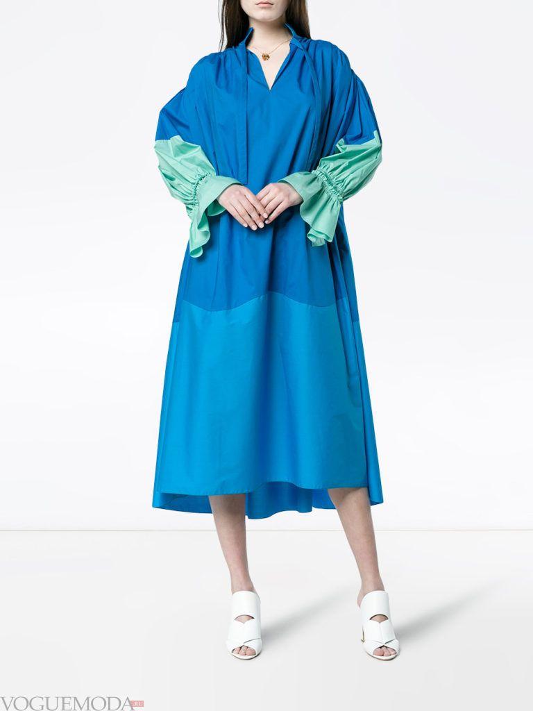 свободное платье миди