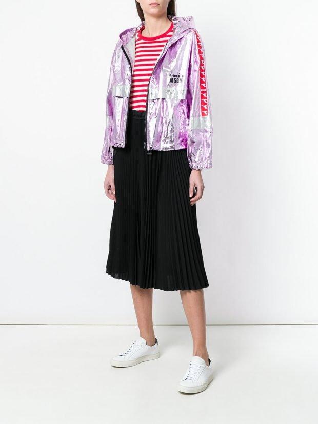юбка миди и спортивная куртка весна