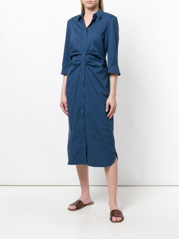 синее платье рубашка кому за 40