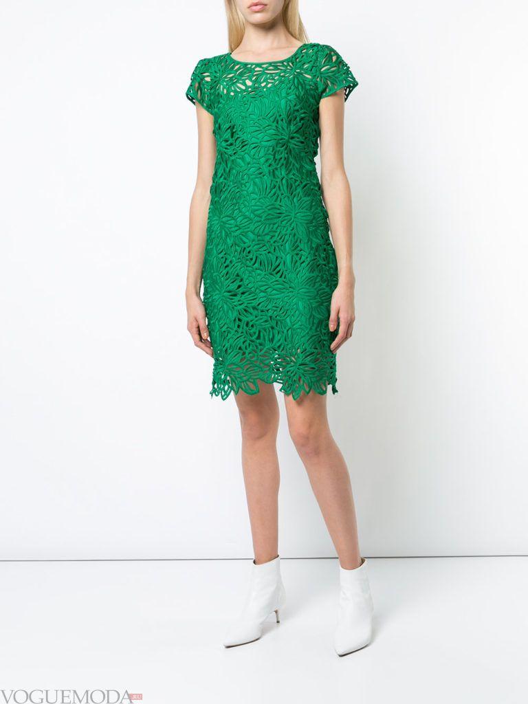 зеленое кружевное платье кому за 40