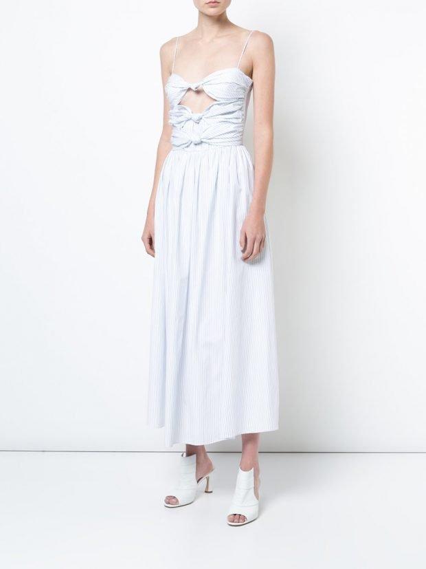 белое платье с вырезами