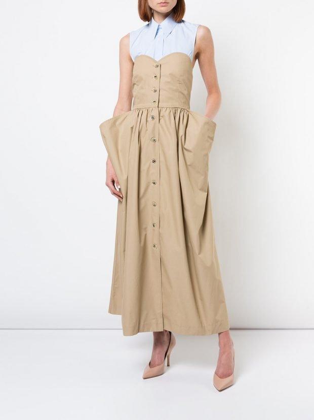 бежевое платье макси кому за 40