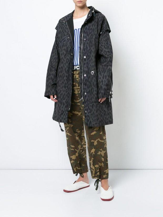 куртка оверсайз леопард и брюки с принтом