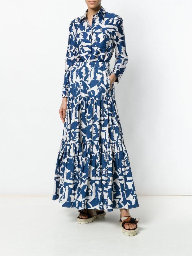 платье макси с принтом кому за 40
