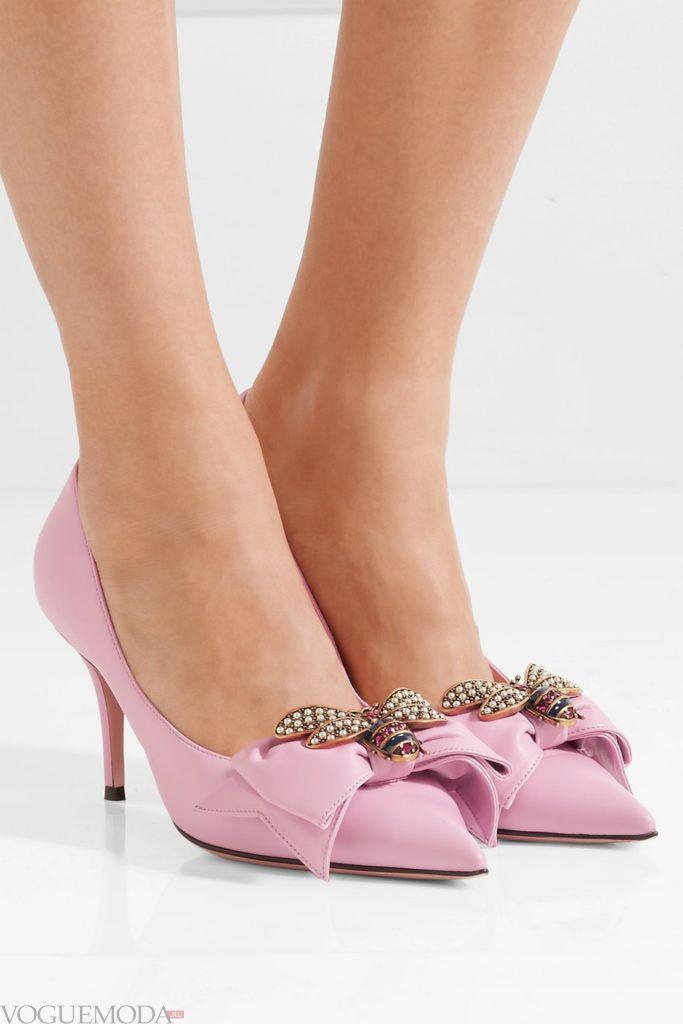 лиловые туфли с бантами
