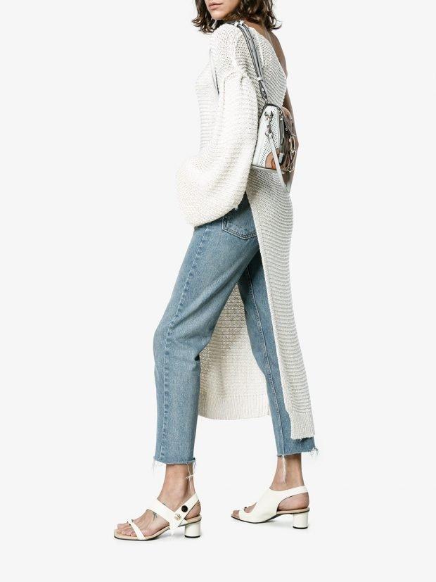 белые босоножки на толстых каблуках