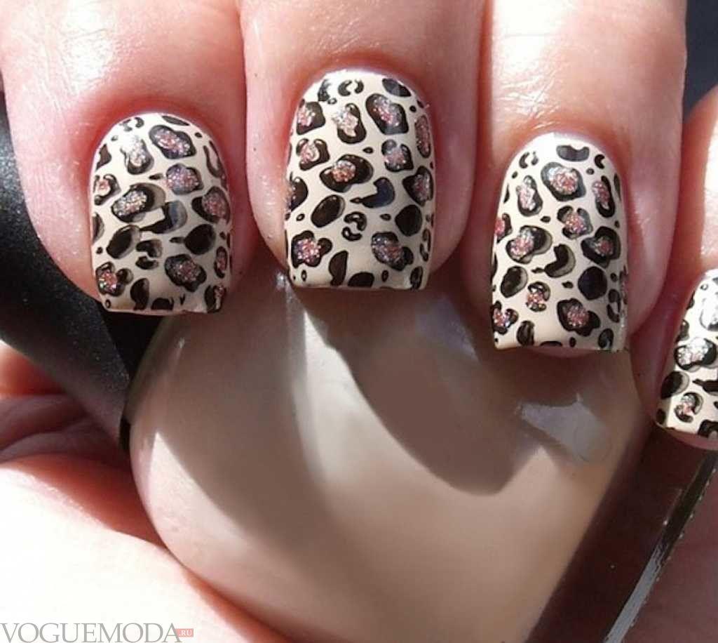 ногти с леопардовым принтом