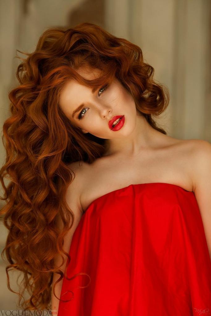 волосы рыжего оттенка
