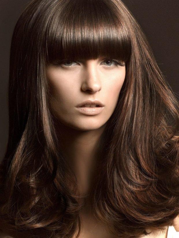 волосы шоколадного цвета