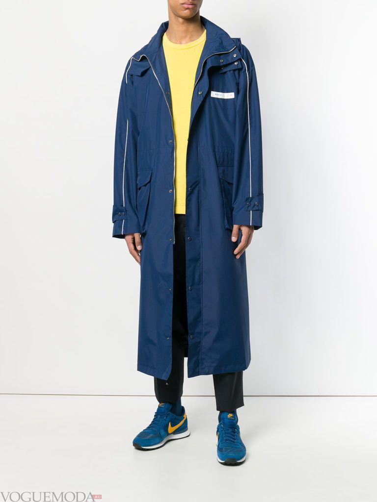 синее мужское пальто весна
