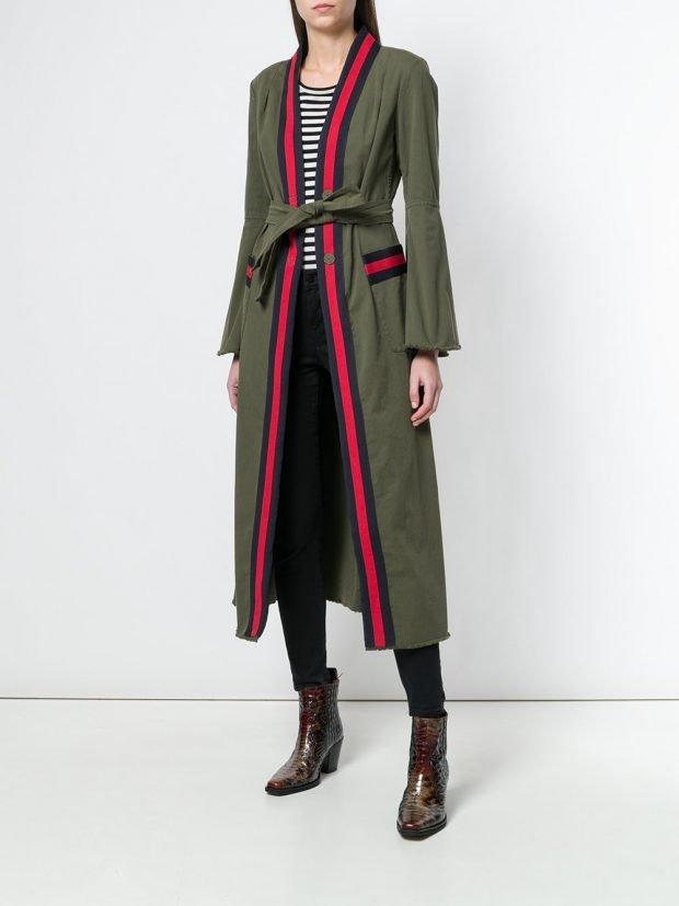 пальто куртка макси с поясом