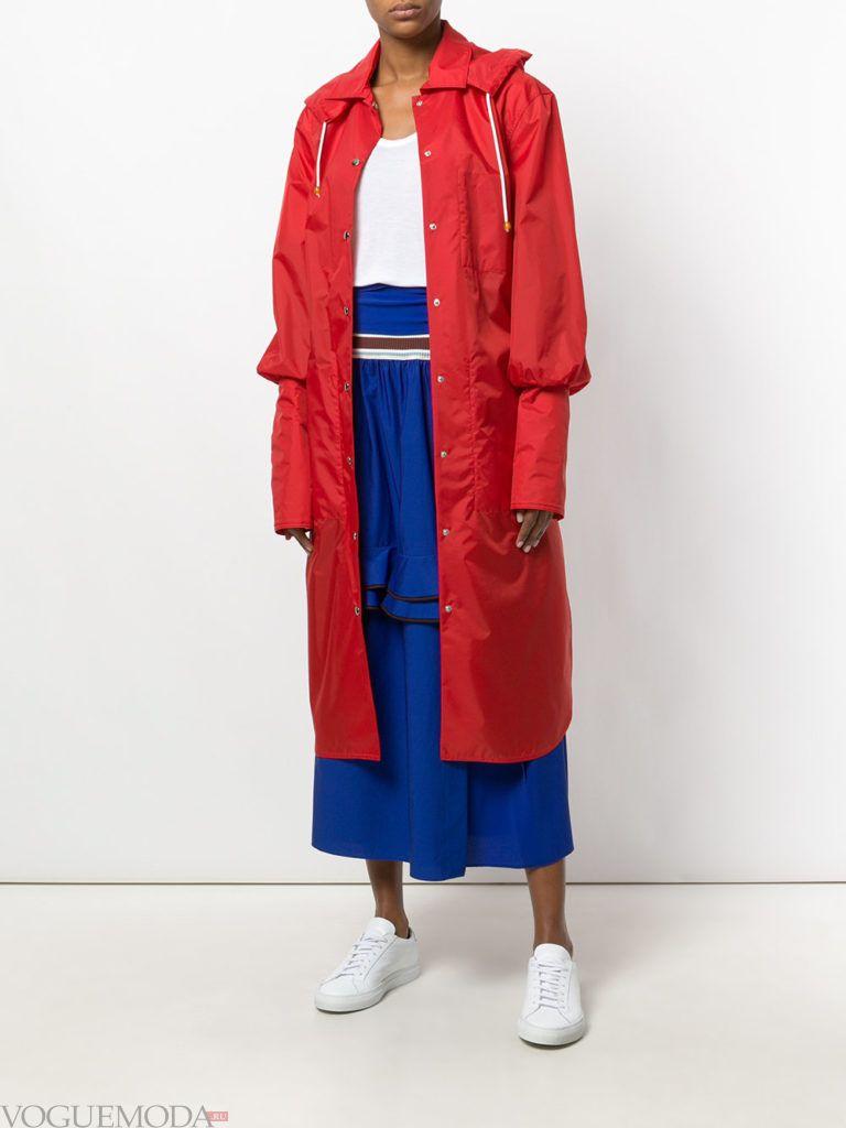 красное пальто куртка весна