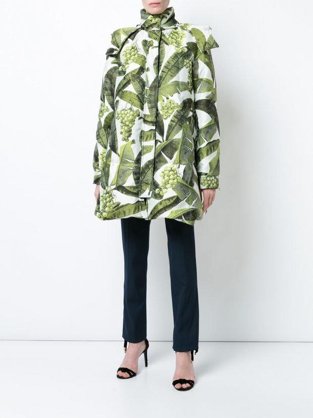 пальто куртка с принтом