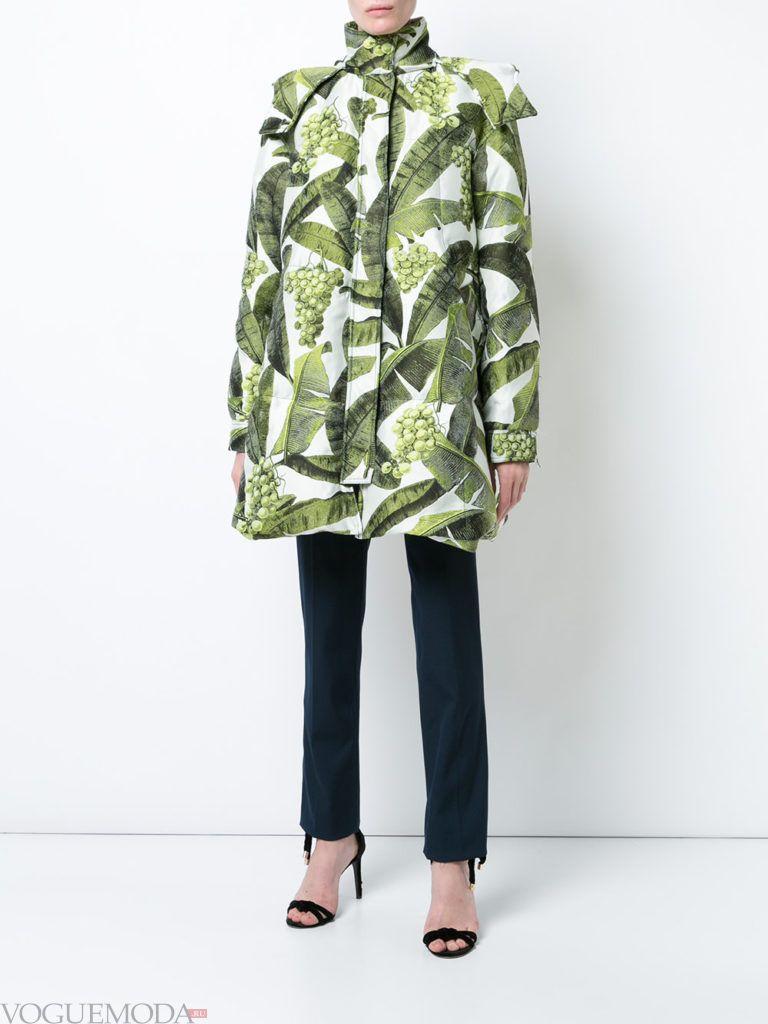 пальто куртка с принтом весна