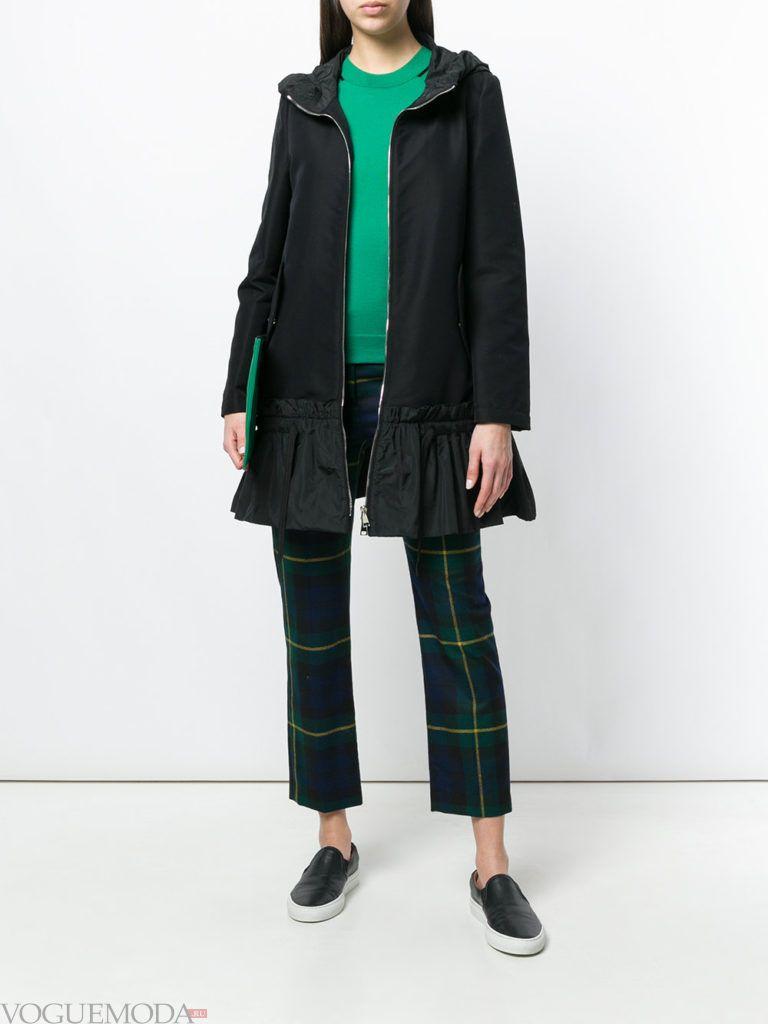 черное пальто куртка весна