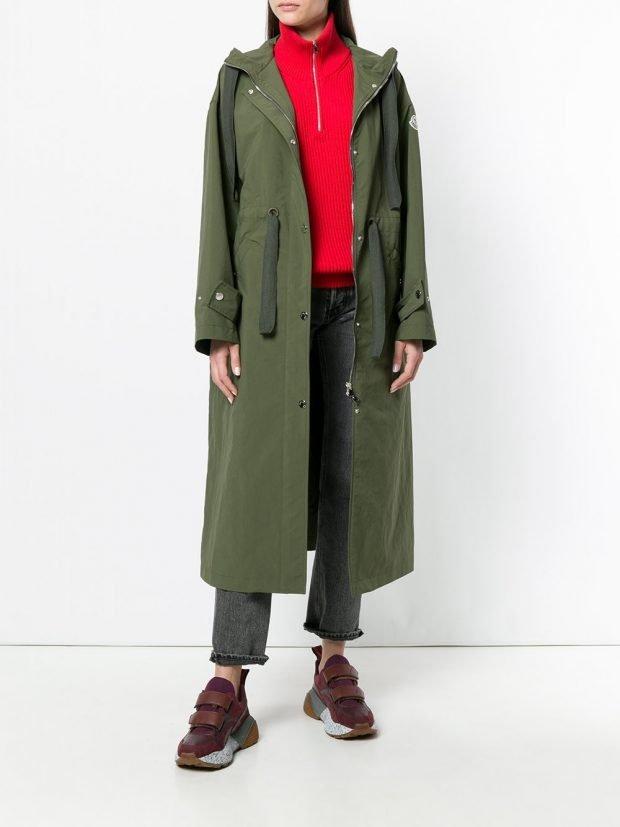 оливковое пальто куртка