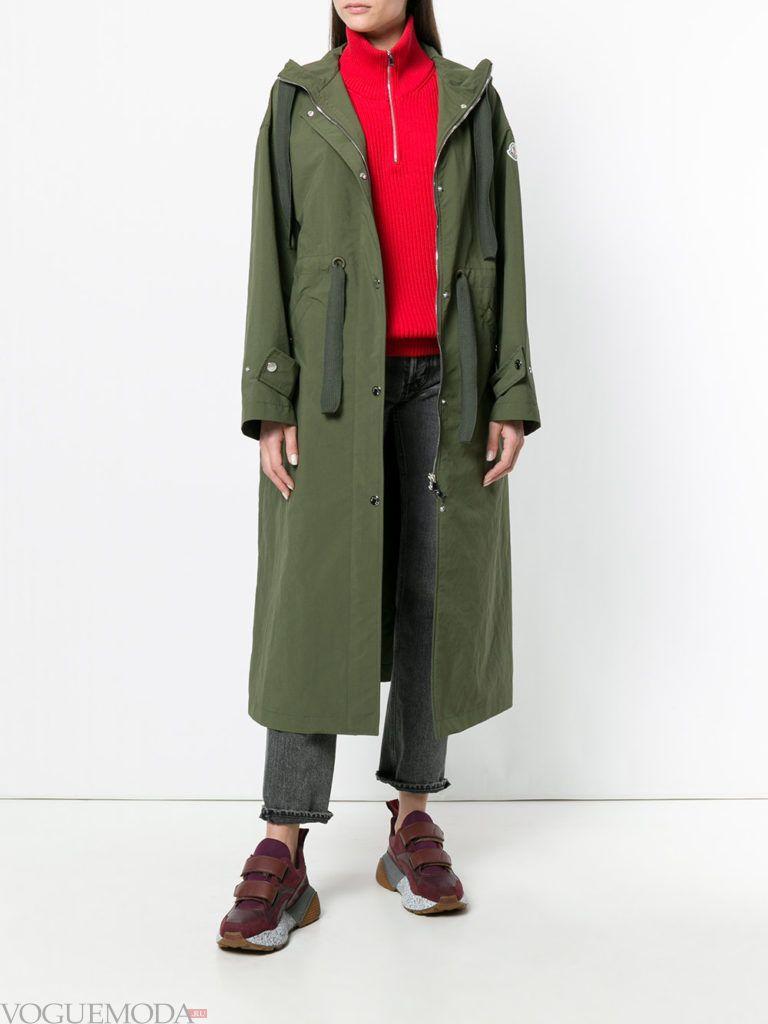 оливковое пальто куртка весна