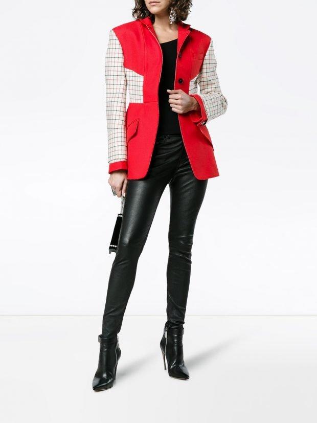 двухцветное короткое весенняя куртка