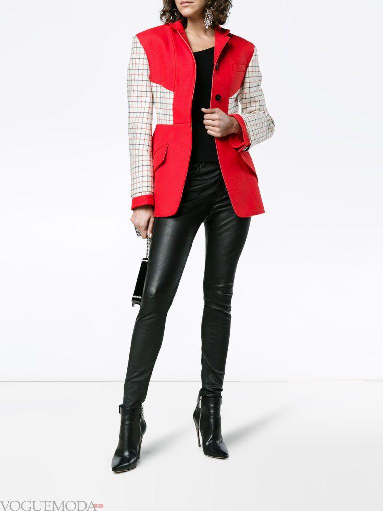 двухцветное короткое пальто куртка весна
